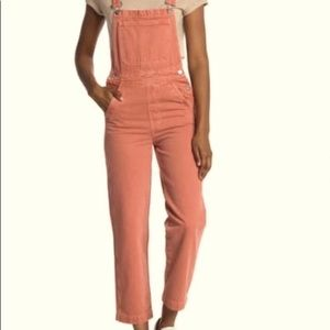 Madewell Rose Relaxed Overalls Garment Dyed